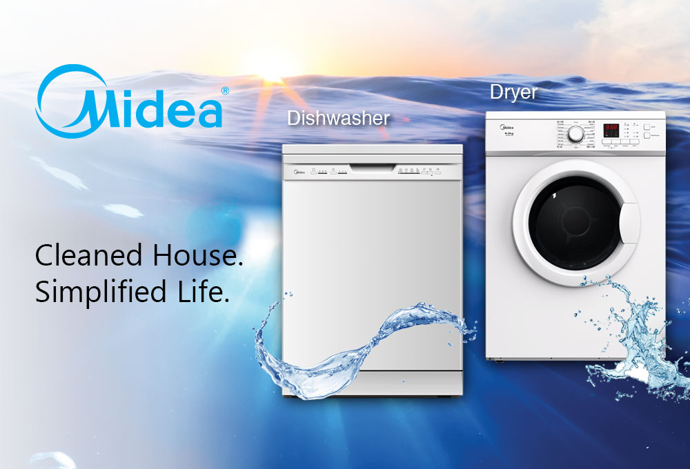Midea Washing Machine and Dishwasher